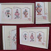 Картины и панно handmade. Livemaster - original item Cross stitch Stuff ladies. Handmade.