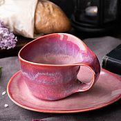 Посуда handmade. Livemaster - original item Mugs and cups: 300 ml mug and saucer. Handmade.