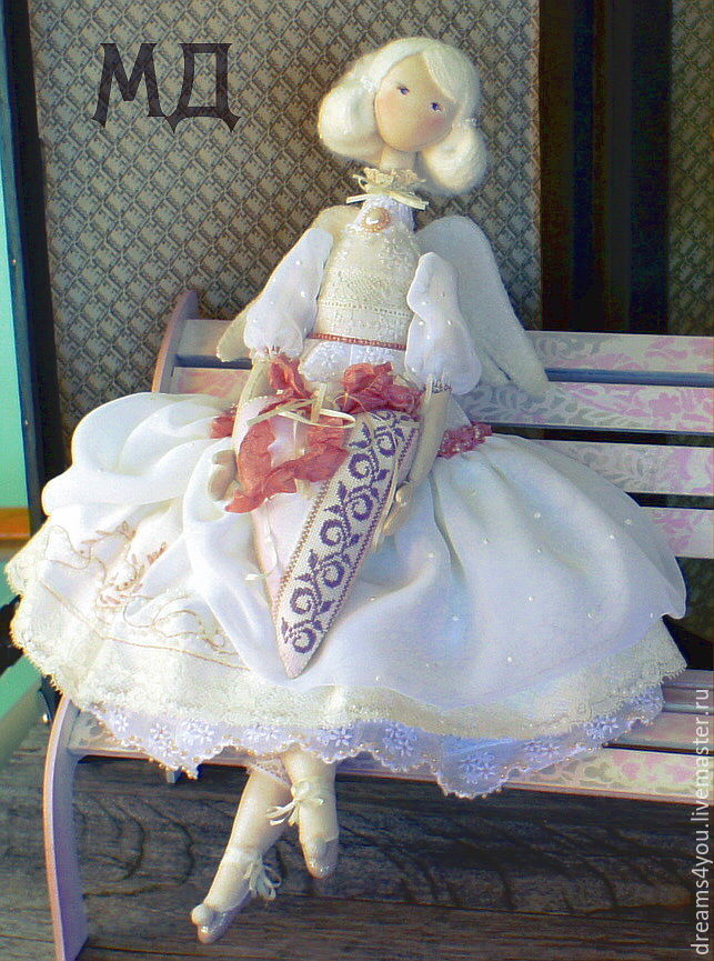 Ангелина. Подвижная текстильная авторская кукла, Куклы и пупсы, Апшеронск,  Фото №1