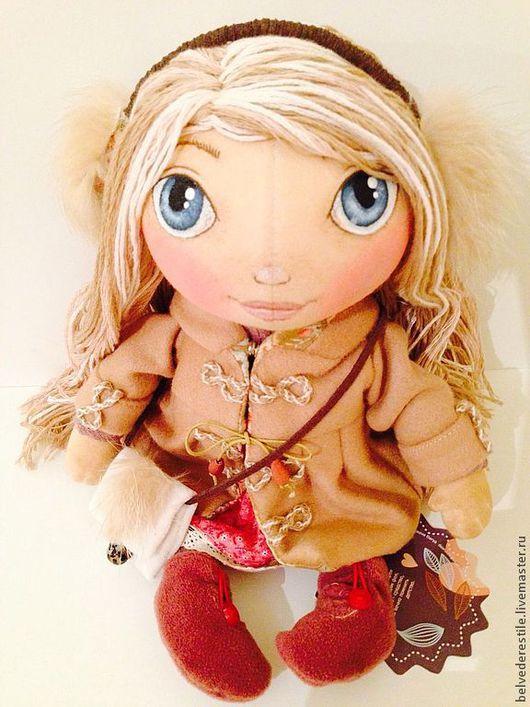 Куклы тыквоголовки ручной работы. Ярмарка Мастеров - ручная работа. Купить Кукла-тыквоголовка Алисия. Handmade. Бежевый, текстильная кукла