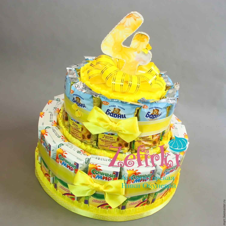 Торт из конфет своими руками: мастер-класс с пошаговым 95