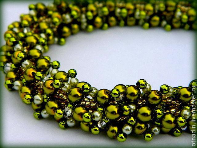 necklace of czech beads 'oliva', Necklace, Zenkov,  Фото №1