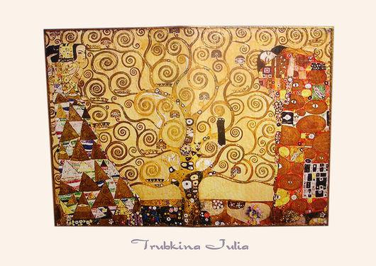 """Обложки ручной работы. Ярмарка Мастеров - ручная работа. Купить Обложка на паспорт """"Золотой Климт"""". Handmade. Подарок, обложка на паспорт"""