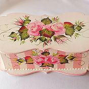 Для дома и интерьера handmade. Livemaster - original item Tea box shabby chic painted