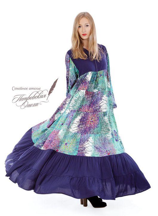 """Платья ручной работы. Ярмарка Мастеров - ручная работа. Купить Платье из штапеля,,Салина"""" С1. Handmade. Купить платье недорого"""