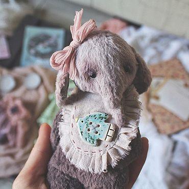 Куклы и игрушки ручной работы. Ярмарка Мастеров - ручная работа Тедди Слоник. Тедди примитив. Handmade.