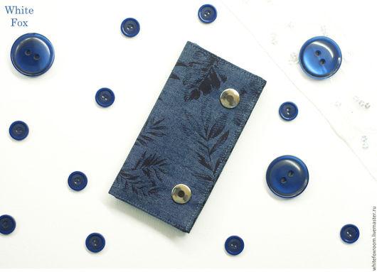 Кошельки и визитницы ручной работы. Ярмарка Мастеров - ручная работа. Купить Ключница из джинса. Handmade. Ключница, лен, синий, фурнитура
