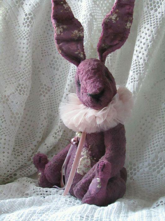 Мишки Тедди ручной работы. Ярмарка Мастеров - ручная работа. Купить Тедди  Кролик Ягодный Муссик. Handmade. Сиреневый