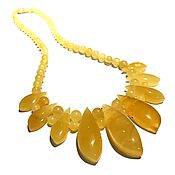Украшения handmade. Livemaster - original item Necklace made of natural solid amber. Handmade.