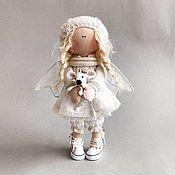 Куклы и пупсы ручной работы. Ярмарка Мастеров - ручная работа Куклы и пупсы: Ангелочек и мышонок Кукла ручной работы. Handmade.