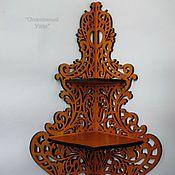 """Для дома и интерьера handmade. Livemaster - original item Corner shelf """"Bouquet"""". Handmade."""