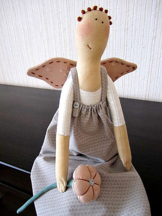 Куклы Тильды ручной работы. Ярмарка Мастеров - ручная работа. Купить Домовушка РОМАНТИЧНАЯ. Handmade. Текстильная кукла, ангел