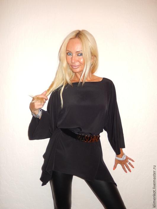 Блузки ручной работы. Ярмарка Мастеров - ручная работа. Купить блуза Ночь. Handmade. Черный, офисный стиль, женская одежда