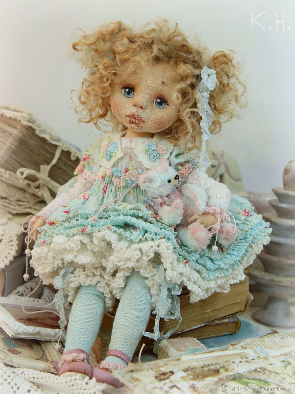 Коллекционные куклы ручной работы. Глаша . Кукла текстильная. Кукольные нежности от Ариши. �нтернет-магазин Ярмарка Мастеров. Коллекционная кукла