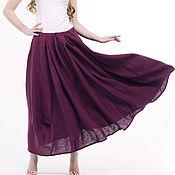Одежда handmade. Livemaster - original item 100% linen boho skirt. Handmade.