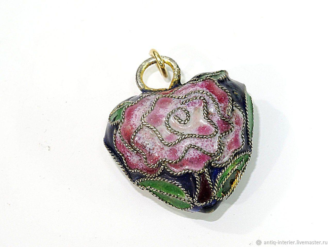 Heart-shaped pendant Cloisone, Vintage pendants, Kaliningrad,  Фото №1