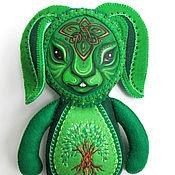 Куклы и игрушки ручной работы. Ярмарка Мастеров - ручная работа Игрушка Заяц. So Green. Handmade.