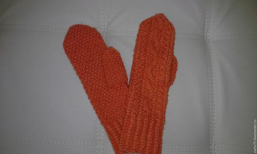 Варежки, митенки, перчатки ручной работы. Ярмарка Мастеров - ручная работа. Купить Варежки. Handmade. Голубой, варежки ручной работы