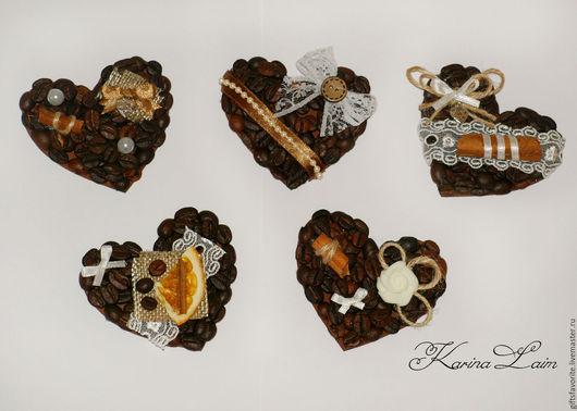 """Магниты ручной работы. Ярмарка Мастеров - ручная работа. Купить """"Сердце"""" магнит на холодильник. Handmade. Коричневый, день влюбленных, сердце"""