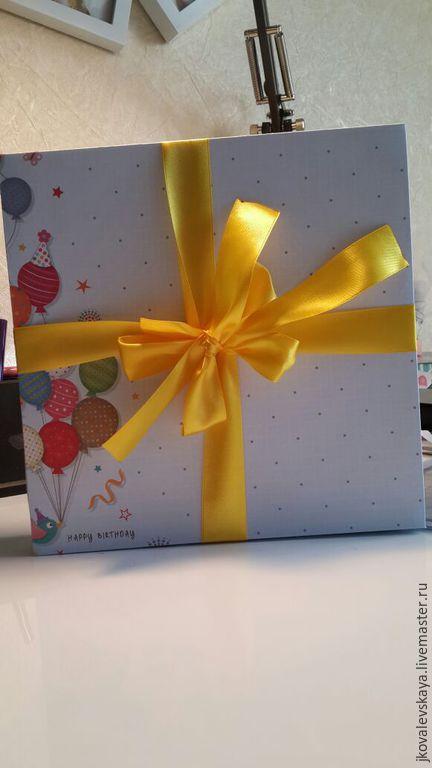 Подарки для новорожденных, ручной работы. Ярмарка Мастеров - ручная работа. Купить Коробочка для хранения альбомов. Handmade. Зеленый, голубой