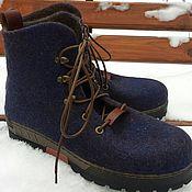 Обувь ручной работы. Ярмарка Мастеров - ручная работа Ботинки мужские зимние. Handmade.