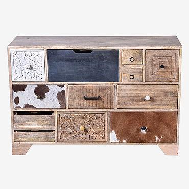 Для дома и интерьера ручной работы. Ярмарка Мастеров - ручная работа ГОБИНД, комод с 12 ящиками, массив, лофт. Handmade.
