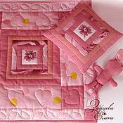 Куклы и игрушки ручной работы. Ярмарка Мастеров - ручная работа кукольная постель Розовый сон. Handmade.