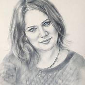 Картины и панно ручной работы. Ярмарка Мастеров - ручная работа Портрет голубоглазки. Handmade.