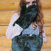 РАСПРОДАЖА СУМКА И ВАРЕЖКИ кролик скрещенный с песцом, разные цвета
