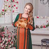 "Одежда handmade. Livemaster - original item Тёплое платье ""Хозяйка Медной горы"". Handmade."
