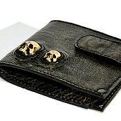 Сумки и аксессуары handmade. Livemaster - original item Men`s wallet, wallets, wallet with a skull-