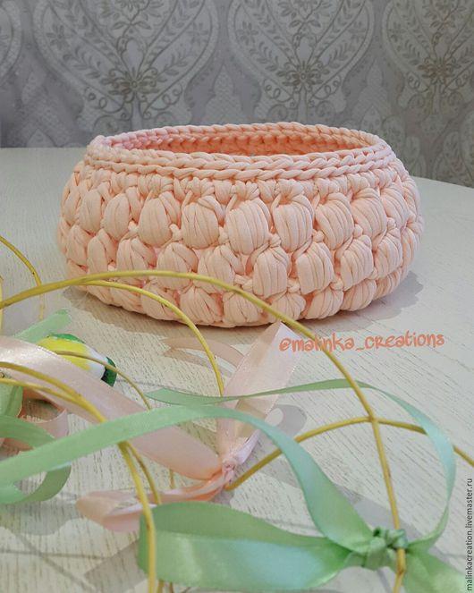 Вязаная корзинка Peach Bumps от Malinka_Creations