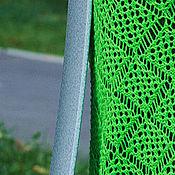 """Одежда ручной работы. Ярмарка Мастеров - ручная работа Летняя юбка спицами """"Лайм"""" из хлопка, ажурная, яркая, вязанная. Handmade."""