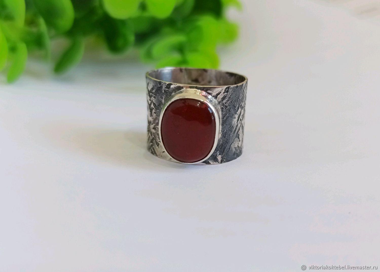 Серебряное кольцо с джамбульским халцедоном (1407), Кольца, Феодосия,  Фото №1