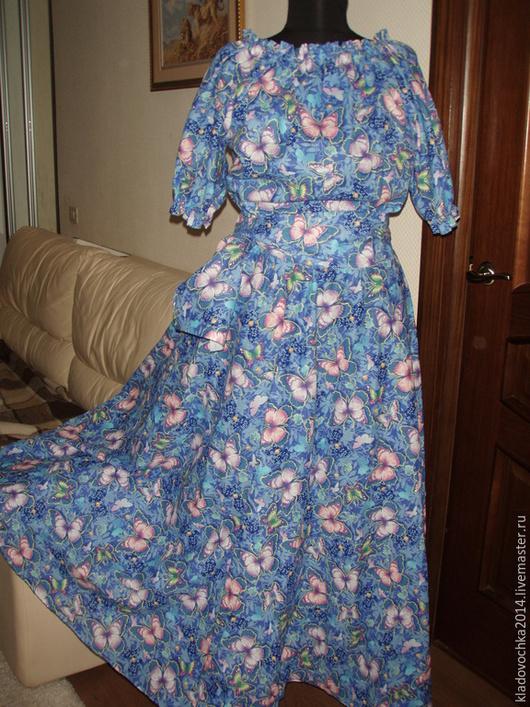 """Платья ручной работы. Ярмарка Мастеров - ручная работа. Купить Платье """"Тиффани"""". Handmade. Разноцветный, платье летнее, полу солнце"""