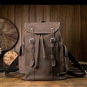 Мужской рюкзак ручной работы. Ярмарка Мастеров - ручная работа Мужской кожаный рюкзак. Handmade.