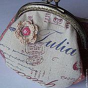 """Сумки и аксессуары ручной работы. Ярмарка Мастеров - ручная работа """"Julia 2"""" косметичка малая. Handmade."""
