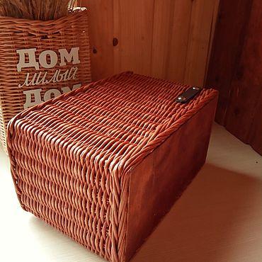 Для дома и интерьера ручной работы. Ярмарка Мастеров - ручная работа Корзина-газетница плетеная. Handmade.