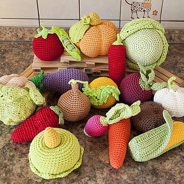 Куклы и игрушки ручной работы. Ярмарка Мастеров - ручная работа Овощи вязаные Овощное изобилие. Handmade.