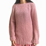 Одежда handmade. Livemaster - original item Sweater female Dusty rose, knitted, oversize, kid mohair. Handmade.
