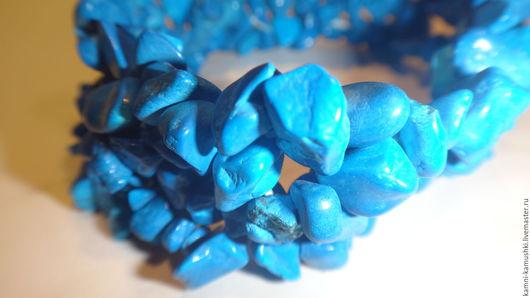 """Браслеты ручной работы. Ярмарка Мастеров - ручная работа. Купить Браслет из бирюзы""""Синие камушки"""". Handmade. Бирюзовый, бирюза натуральная"""