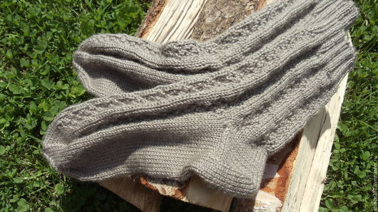 Носки, Чулки ручной работы. Ярмарка Мастеров - ручная работа. Купить Мужские носки. Handmade. Серый, носки вязаные