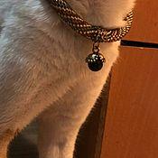 Зоотовары handmade. Livemaster - original item Sarah collar (beige). Handmade.