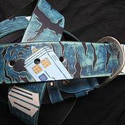 Аксессуары handmade. Livemaster - original item DOCTOR WHO leather strap. Handmade.