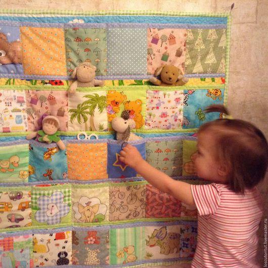 Детская ручной работы. Ярмарка Мастеров - ручная работа. Купить Кармашки в детский сад. Handmade. Комбинированный, кармашки, интерьер детской