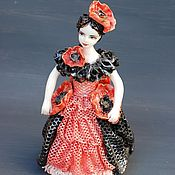 Для дома и интерьера handmade. Livemaster - original item Flower fairy poppy. Lace figurine bell.. Handmade.