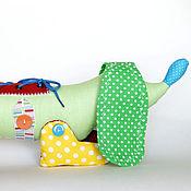 Куклы и игрушки ручной работы. Ярмарка Мастеров - ручная работа Развивающая игрушка Такса. Handmade.