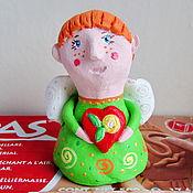 Куклы и игрушки ручной работы. Ярмарка Мастеров - ручная работа Ангелочек с сердечком. Handmade.