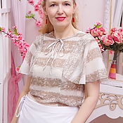Одежда handmade. Livemaster - original item The blouse is of silk muslin, blouse Sultry June. Handmade.
