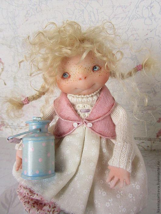 """Коллекционные куклы ручной работы. Ярмарка Мастеров - ручная работа. Купить """" Малышка Милки"""" или"""" У меня сегодня кошка родила вчера котят"""". Handmade."""